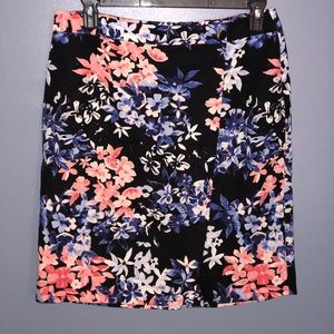 Talbots Petite Floral Casual Skirt Size 14P